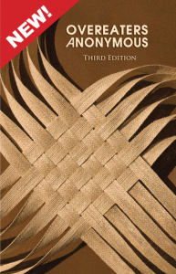 """OA's third edition of the beloved Brown Book includes forty never-before-published stories by members from around the world, the complete text of """"Our Invitation to You"""", the founder's story, and a new foreword by an eating disorder treatment professional with a new appendix to help readers understand the importance of using the plan of eating Tool in finding abstinence."""