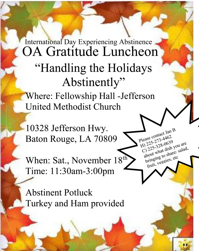 IDEA DAY-OA GRATITUDE LUNCHEON 18 NOV 2017